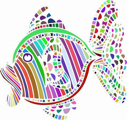 Abstract Colorful Fish Clipart Clip Designs Cliparts