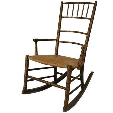 19th century american country style child s rocking chair