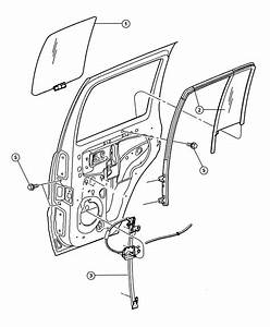 New Genuine Mopar 04589267ab Rear Left Door Window Regulator