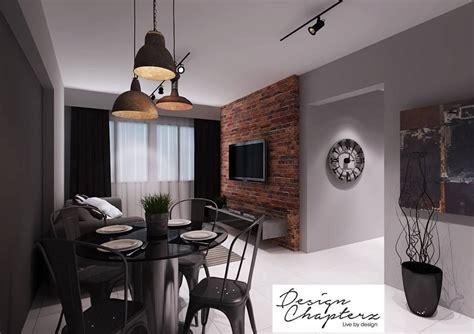 Grey Living Room Hdb by Hdb Bto 4 Room Modern Industrial Blk 635a Senja Road