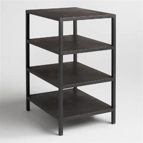 desks world market black 3 shelf colton mix match desk base world market