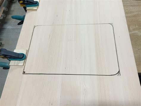 encastrer un 233 vier dans un plan de travail la fabrique 224 bois