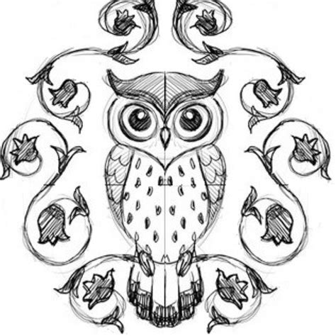 simple owl drawings black and white easy owl doodle www pixshark images galleries with