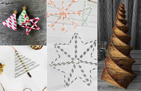 basteln mit papierroellchen zu weihnachten diy ideen mit