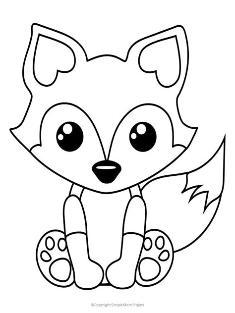 printable baby fox coloring page simple mom project fox coloring page  kids