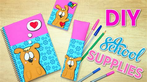 Diy School Supplies! Easy Crafts For Back To School Youtube