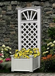 bac fleurs avec treillis car interior design With chambre bébé design avec fleurs de bac