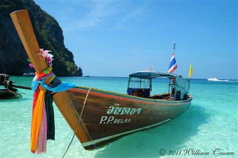 Thai Boat by Boat Phi Phi Island Thailand William Cowan