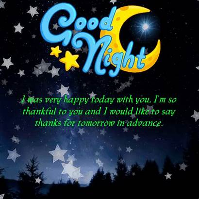 Tomorrow Thanks Goodnight 123greetings Night Card