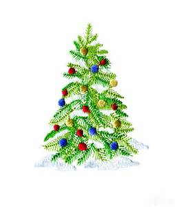decorated christmas tree 2 embroidery design