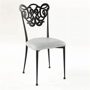 Chaise Fer Forgé : chaise en fer forg milos 4 pieds tables chaises et tabourets ~ Teatrodelosmanantiales.com Idées de Décoration