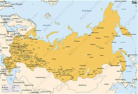 digital postcode map russia  digit   world