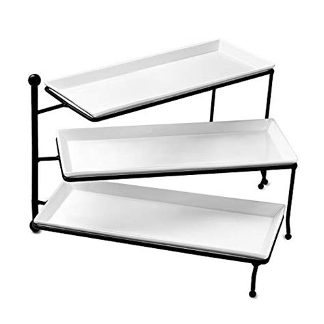 tiered serving stand sweese   tiered serving stand foldable rectangular food display