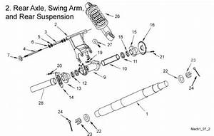 Rear Axle  Swing Arm  And Rear Suspension   Get 2 It Parts