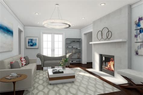 Home Decor 3d : How To Get A High-end Contemporary Living Room Design On A