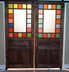 craftsman home design under construction update With barn door with stained glass