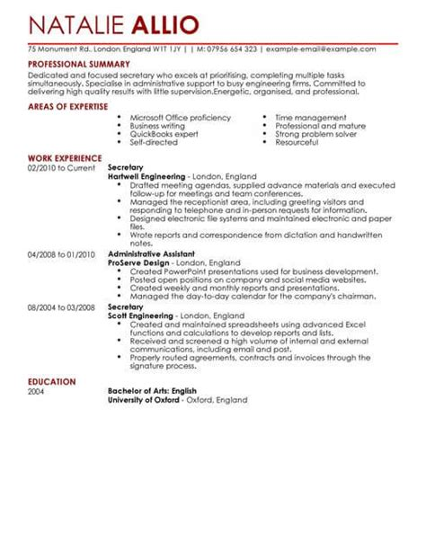 Cv Template For Admin Assistant by Admin Assistant Cv Template Cv Sles Exles
