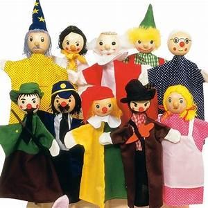 Marionnette à Main : 12 marionnettes main en tissu et t te en bois 27cm marionnettes enfants ~ Teatrodelosmanantiales.com Idées de Décoration