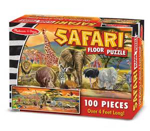 amazon com melissa doug safari floor puzzle 100 pcs