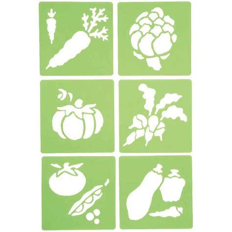 pochoir cuisine a imprimer pochoirs quot les légumes quot lot de 6 dtm loisirs creatifs
