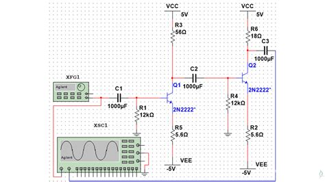 Implementation Two Stage Amplifier Using Bjt