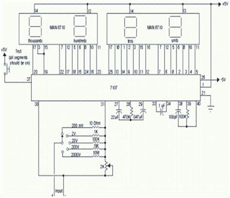 digital voltmeter ammeter circuit diagram wiring diagram