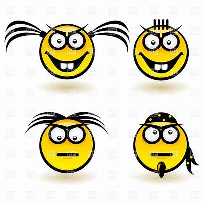 Face Cartoon Smiley Clipart Serious Emotions Faces