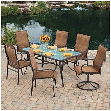 Wilson Fisher Patio Furniture Big Lots by Wilson Fisher 174 Delray 7 Sling Dining Set At Big