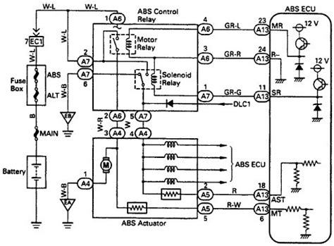 Wiring Diagrams Toyota Typical Abs Control Relay