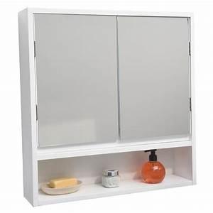 armoire pharmacie salle de bain achat vente armoire With meuble salle de bain vitrée
