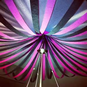 Purple Black Silver Party Decorations