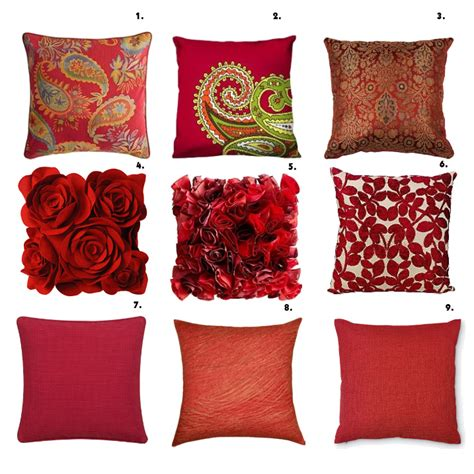Shopping Time Red Pillows!  How To Be Trendy