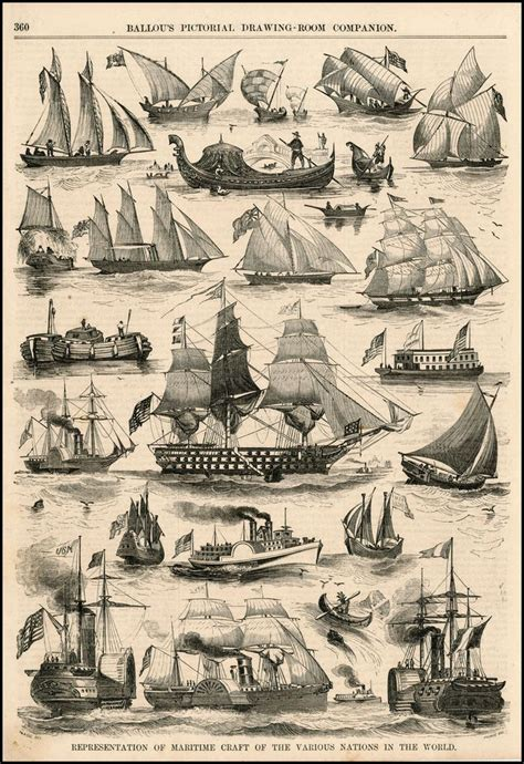 Old Types Of Boat by Tall Ships And Maritime History