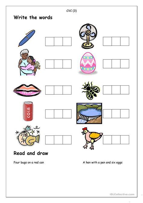 Phonics  Spelling Cvc (3) Worksheet  Free Esl Printable Worksheets Made By Teachers