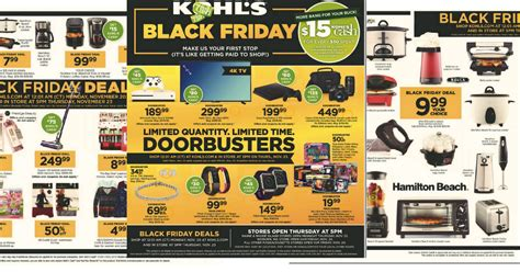 kohls black friday ad  mylitter  deal   time