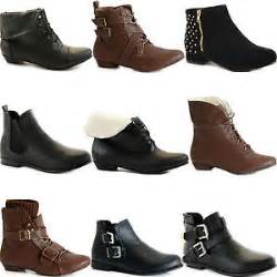 womens ankle boots flat uk picture information
