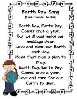 earth songs for preschoolers earth day twinkle twinkle kindergarten and earth 440
