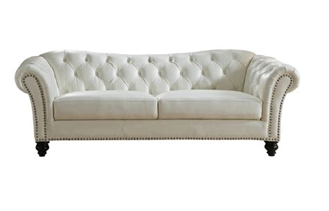 white leather sofa and chair mona full top grain ivory white leather sofa