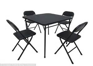 Black Metal Folding Chairs Walmart by Walmart Recalls Card Table And Chair Sets After Users Get
