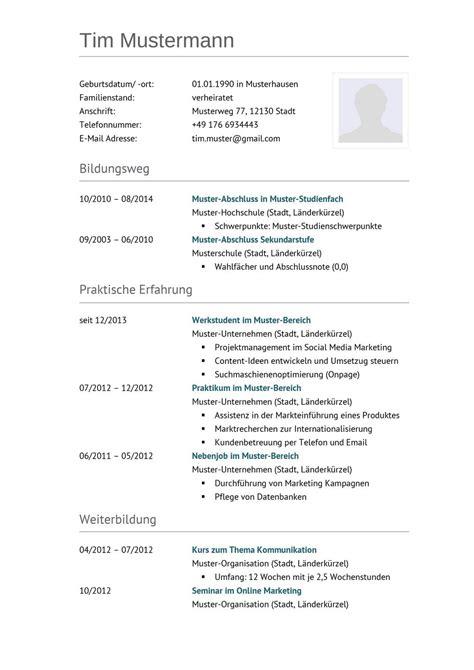Vordruck Tabellarischer Lebenslauf by Tabellarischer Lebenslauf Muster Vorlage Lebenslauf Beispiel