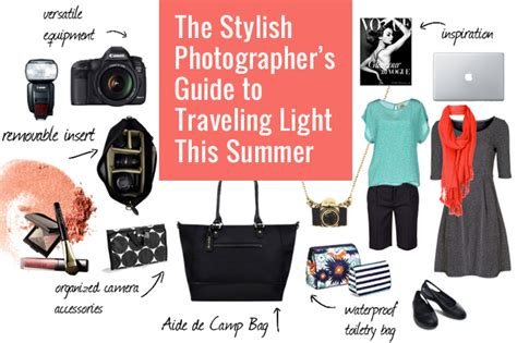 The Stylish Photographer's Guide To Traveling Light This