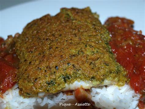 cuisiner un filet de cabillaud dos de cabillaud en croute de curry pique assiette