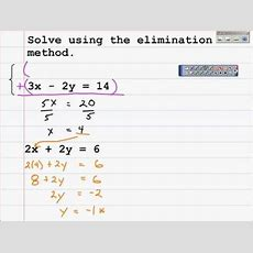 How To Solve A System Of Equations Algebraically With The Elimination Method Youtube