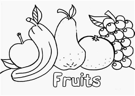 Fruit Coloring Sheets