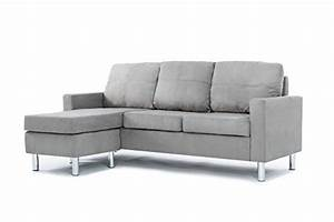 galleon modern microfiber sectional sofa small space With small spaces configurable sectional sofa grey