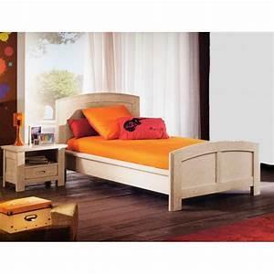 Lit En 90 : lit de gaspard ch ne blanc en 90 meubles de normandie ~ Teatrodelosmanantiales.com Idées de Décoration