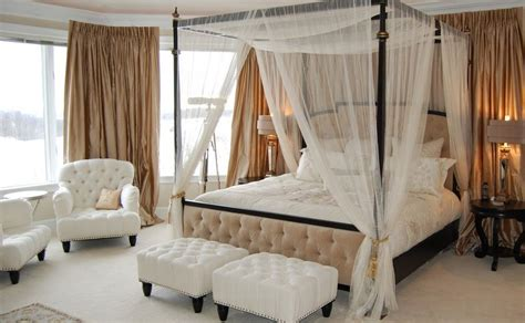 bring romanticism   bedroom  canopy beds