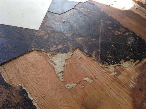 removal trouble removing vinyl tile  underlayment