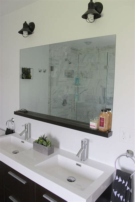 How To Install A Bathroom Mirror by How To Install A Bathroom Mirror Without Brackets Diy