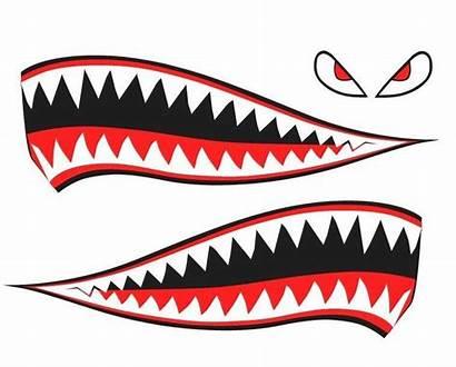Shark Teeth Decal Sticker Photoshop Warhawk P40